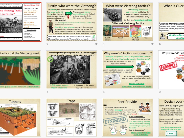 KS3 History, Why were Vietcong tactics so successful?