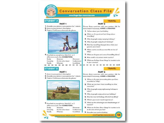 Travel & Holidays - ESL Conversation Activity