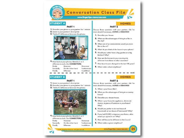 Homes - ESL Conversation Activity