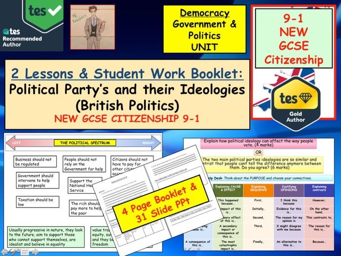 NEW GCSE Citizenship (9-1) Political Party's and their Ideologies. Party Politics