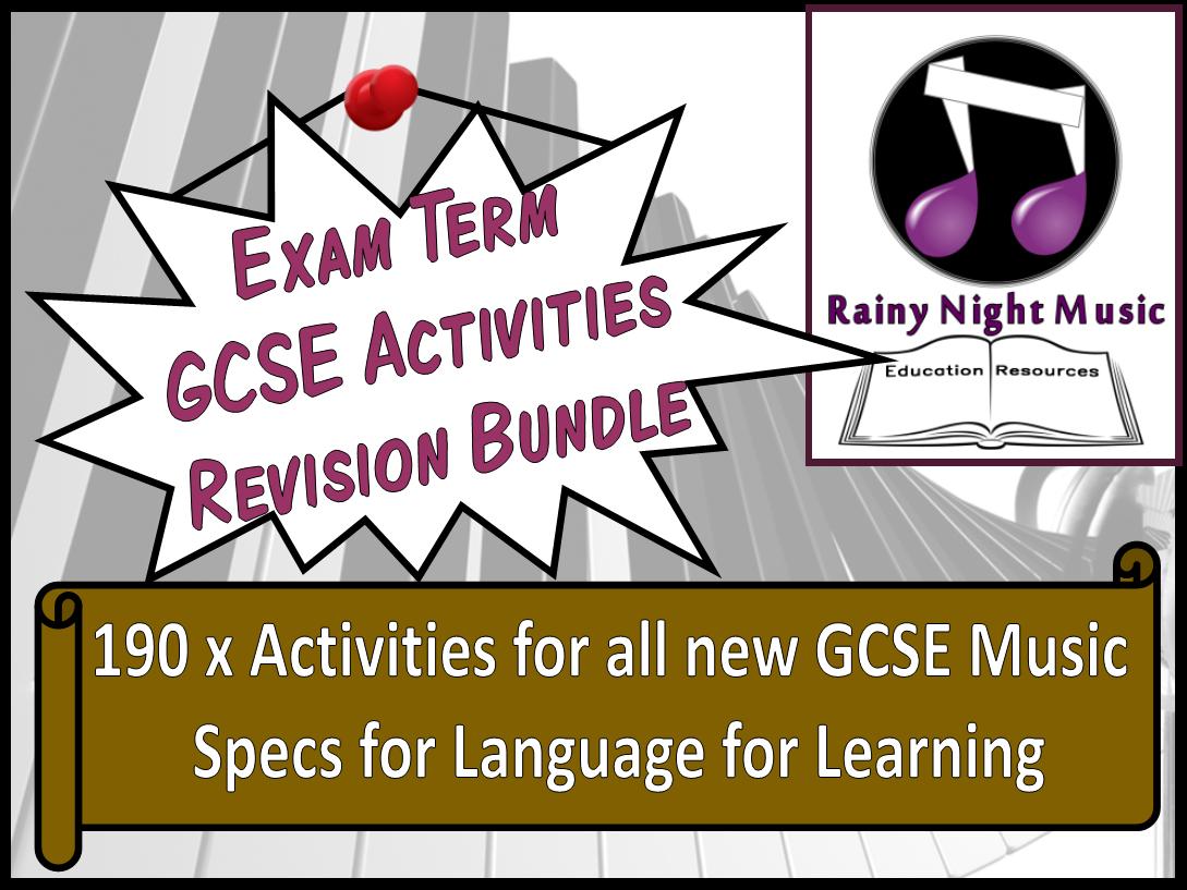 GCSE Music Revision Activities Bundle