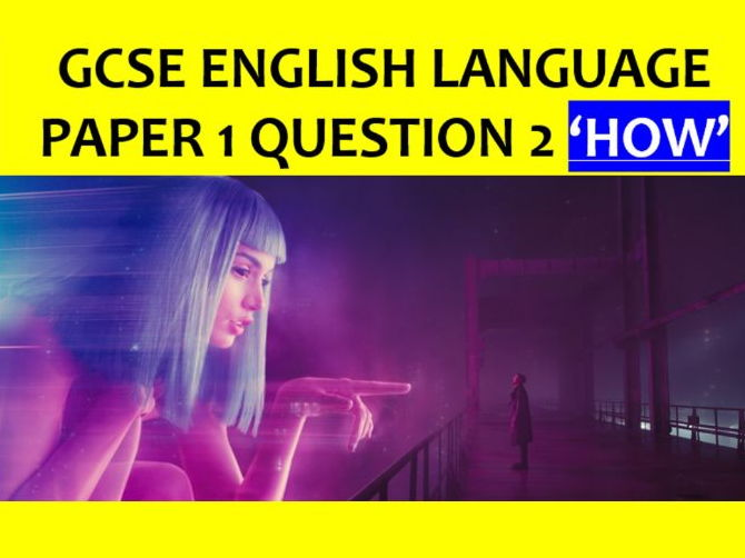 GCSE English Language Paper 1 Q2 the 'language' question (with lecturer podcast)