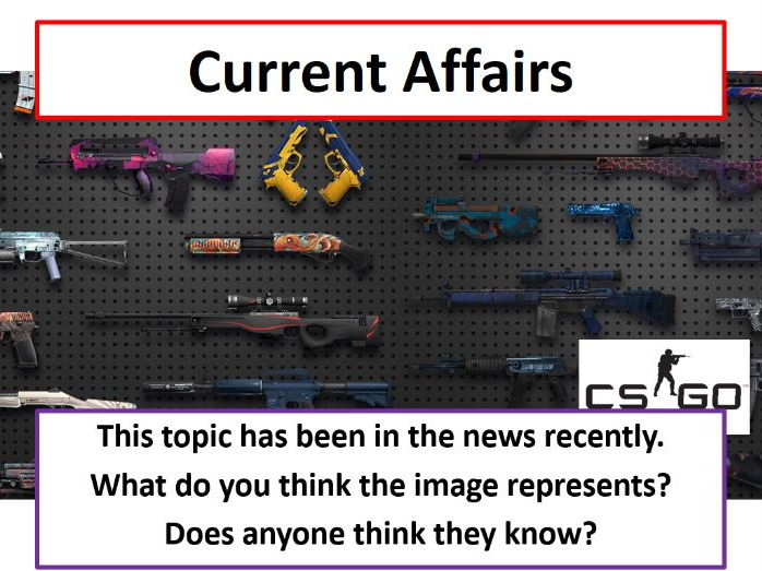 Current Affairs Form Time Activity - Video Game Gambling