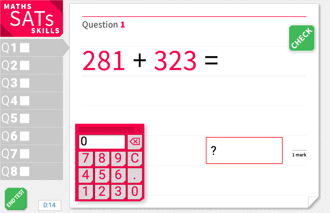 Adding and subtracting with three-digit numbers - KS2 Maths Sats Arithmetic - Interactive Exercises
