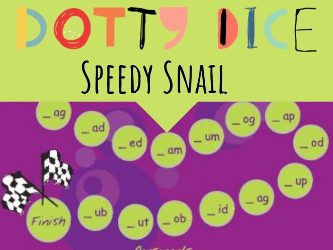 Literacy Board Game - Initial Consonant Words - Speedy Snail