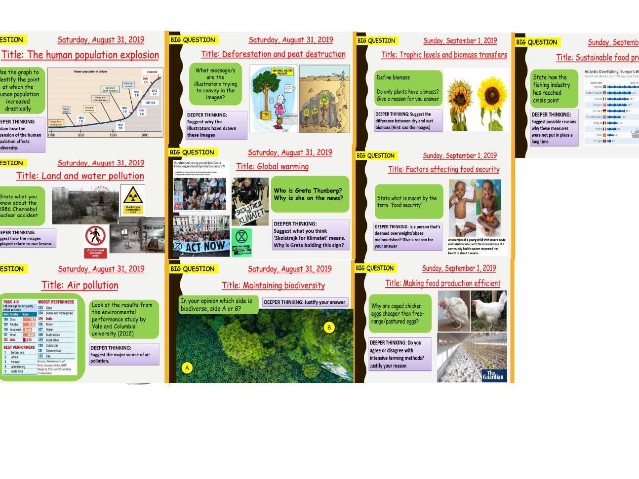 AQA new specification-B18 Biodiversity and ecosystems-Separate science bundle