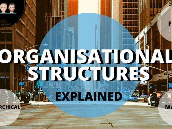 Organisational Structures Video & Activity Worksheet