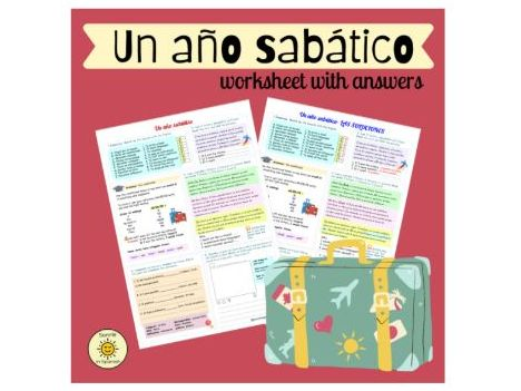 Un año sabático. Spanish GCSE a gap year. The conditional. Worksheet with answers