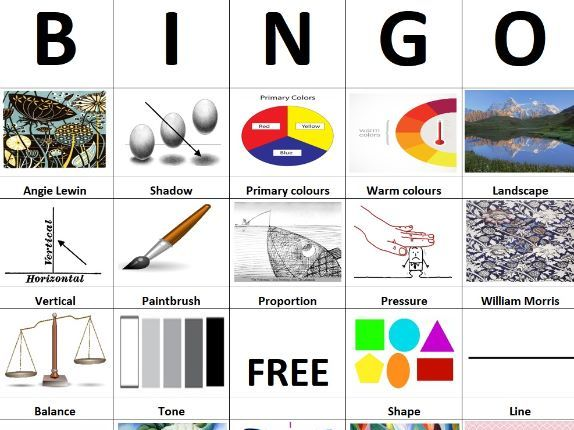 Art key term bingo