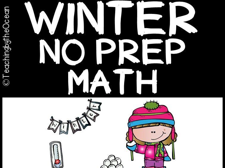 Winter Math NO PREP (kindergarten)