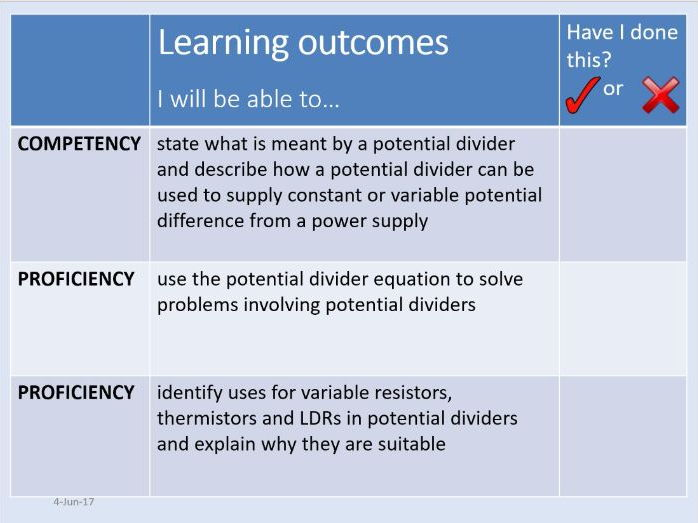 New AQA AS Physics Unit 5 Electricity - 5.1.5 Potential dividers