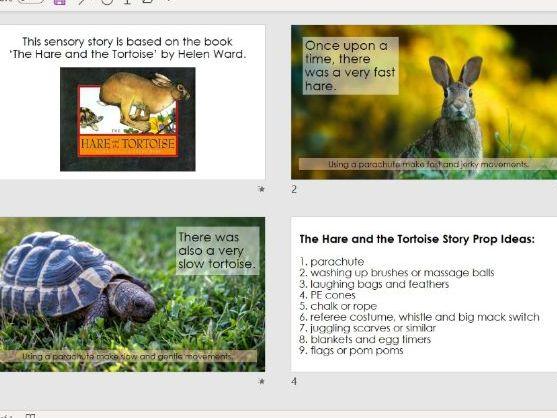 Hare and Tortoise Sensory Story