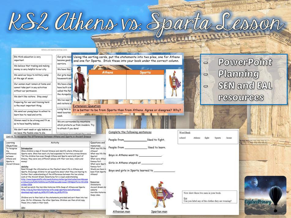 KS2 Athens vs Sparta - Full Interview Lesson