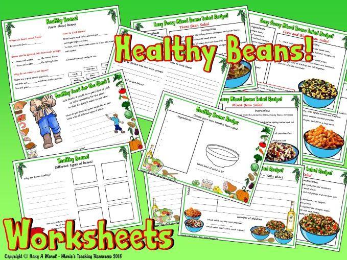 Healthy Beans - Worksheets KS1
