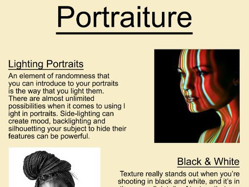 Art & Photography Portraiture Poster