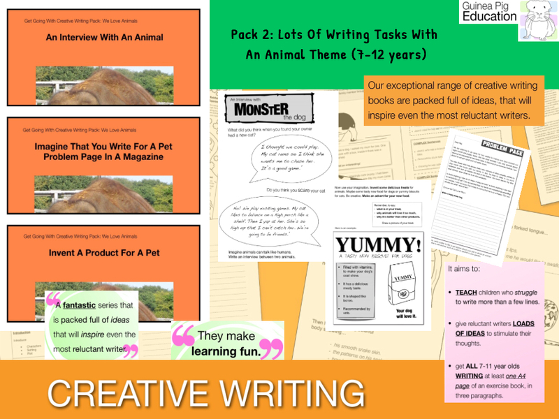 Pack 2: Lots Of Writing Tasks With An Animal Theme (7-13 years)