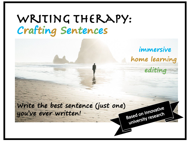 Home Writing Therapy: Crafting the Best Sentence