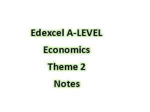 Edexcel A-LEVEL Economics Theme 2 Notes