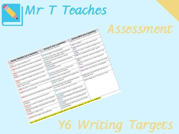 Year 6 Writing Targets Assessment