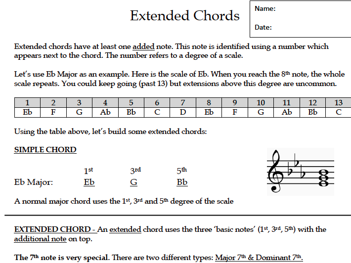 Extended Chords