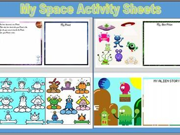 My Space Activity Sheets KS1