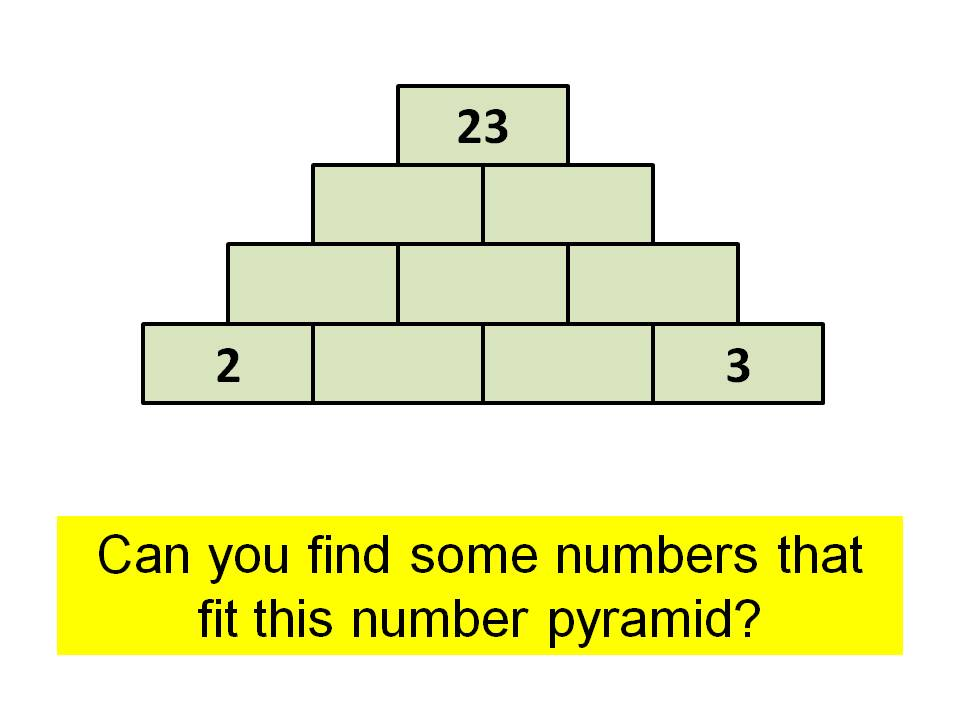 Number pyramids investigation 3