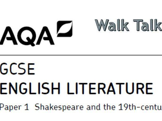 English Literature Paper 1 Walk Talk Mock - R&J/ACC/J&H