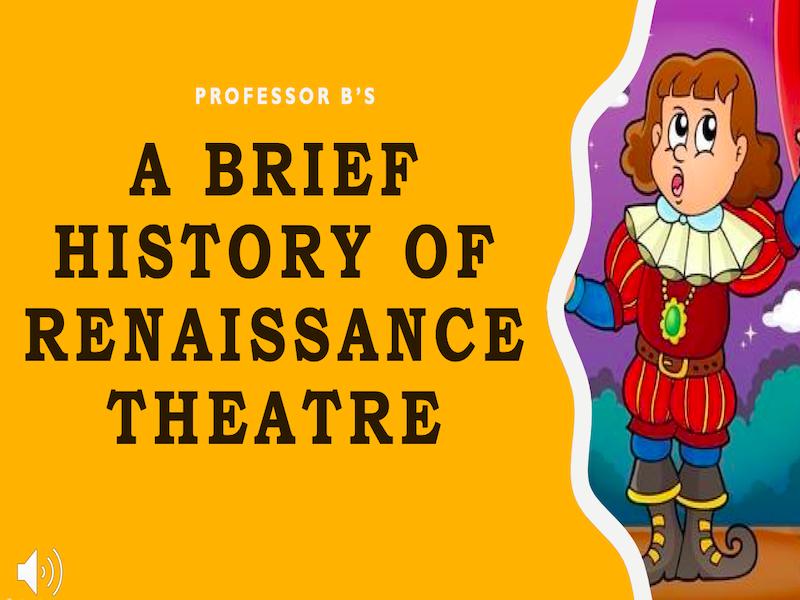 A Brief History of Renaissance Theatre Power Point/Activity Sheets Bundle