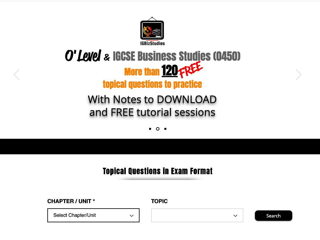 Complete Mind Map IGCSE/O'Levels Business Studies