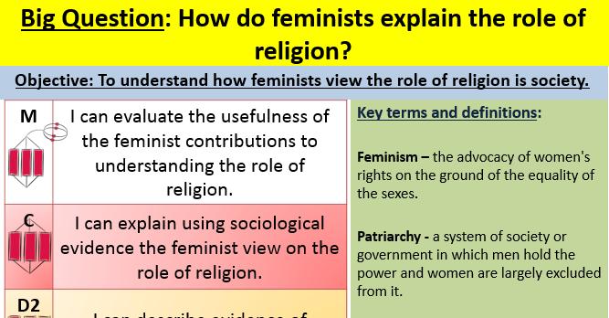 Feminism and religion lesson