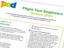 Flight test engineers lesson plan