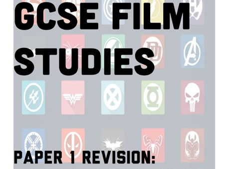GCSE Film Studies Paper 1 Revision Guide for WJEC Legacy Spec on Genre study of Superhero films
