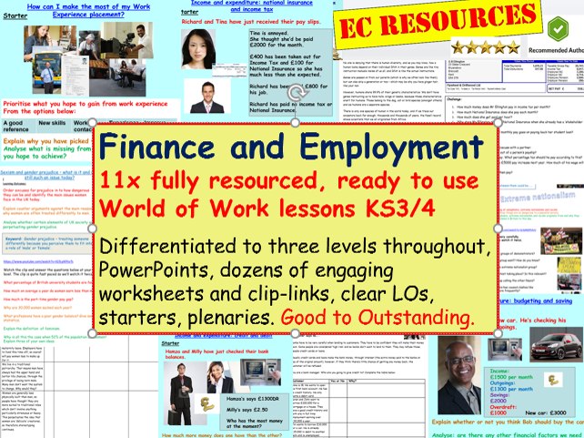 Employment and Finance