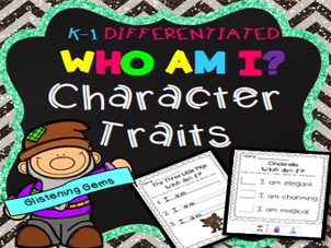 Fairy Tales Character Traits No-Prep Printables