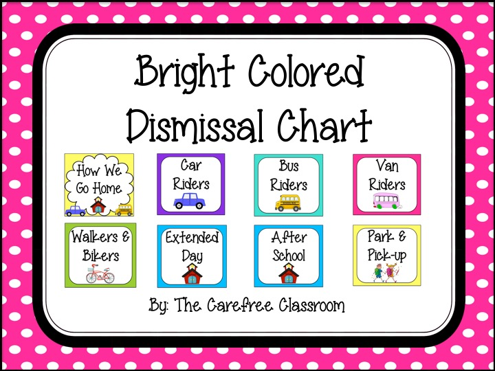 Dismissal Chart: Bright Colored