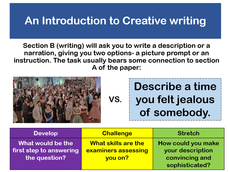 Creative Writing Revision (GCSE)
