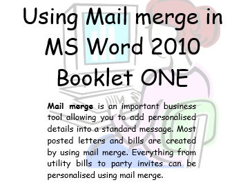 Mail Merge Office 2010  Book 1