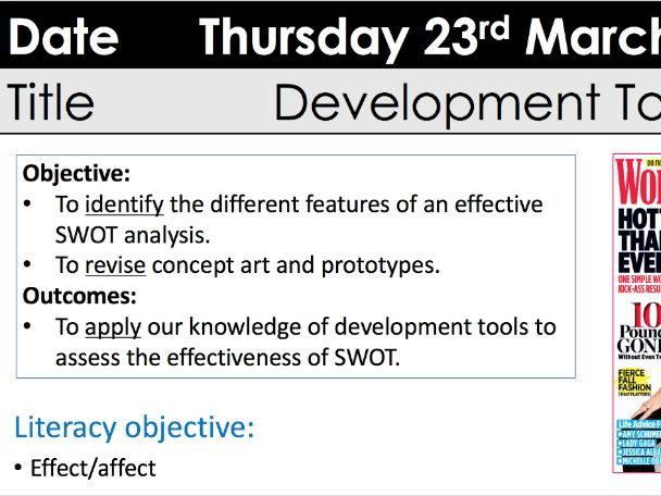 CTEC Developent Tools with SWOT analysis model