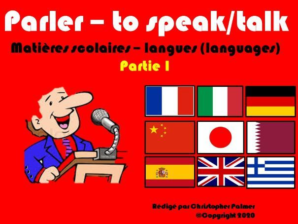 Primary French: School subjects and '-er' verbs part 1: Parler and languages (Key Stage 2)
