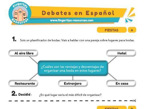 Fiestas - Debates in Spanish