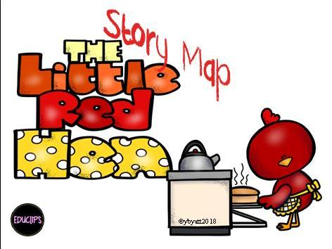 The Little Red Hen Story Map