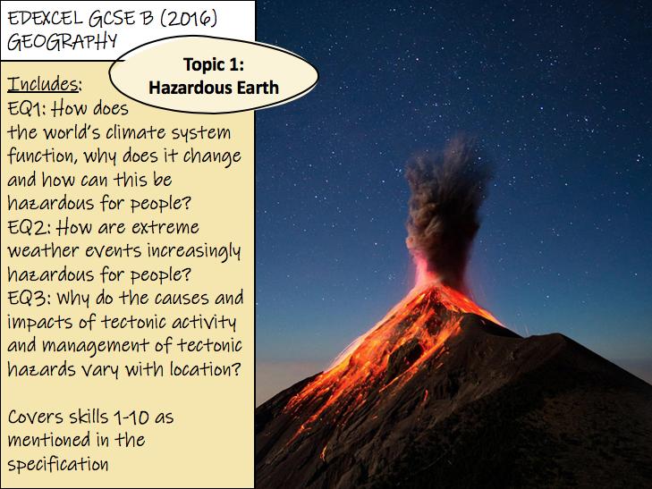 Hazardous Earth - Edexcel GCSE Geography B