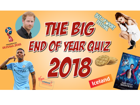 The Big End of School Year Quiz 2018! - End of Term / Summer Quiz - Music, News, Sport, TV, Film etc