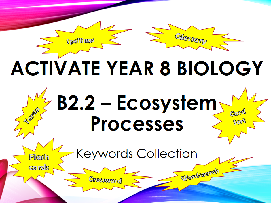 Activate Year 8 Biology - B2.2 - Ecosystem Processes - Keyword Collection