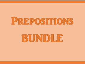 Preposiciones (Prepositions in Spanish) Bundle