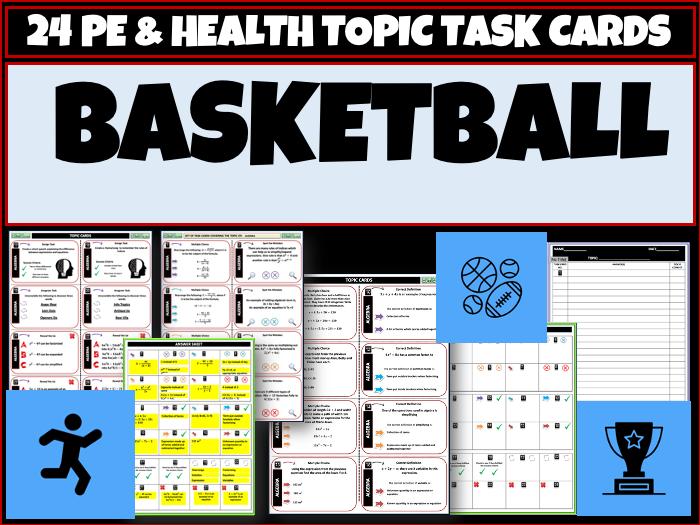 Basketball PE Task Cards