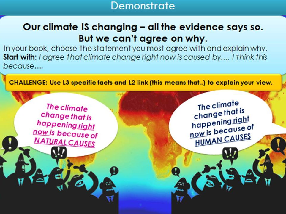 Climate Change Causes: AQA new spec, GCSE Geography