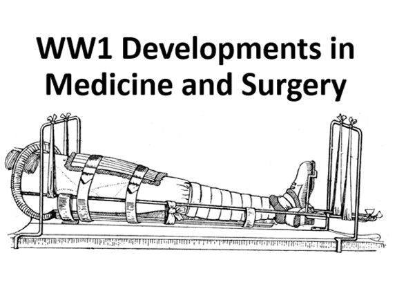 WW1 Developments in Medicine and Surgery