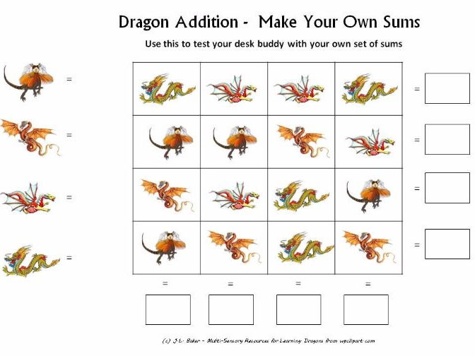 Dragon Pack - Visual Math and Logic Puzzles for Middle and Upper Primary