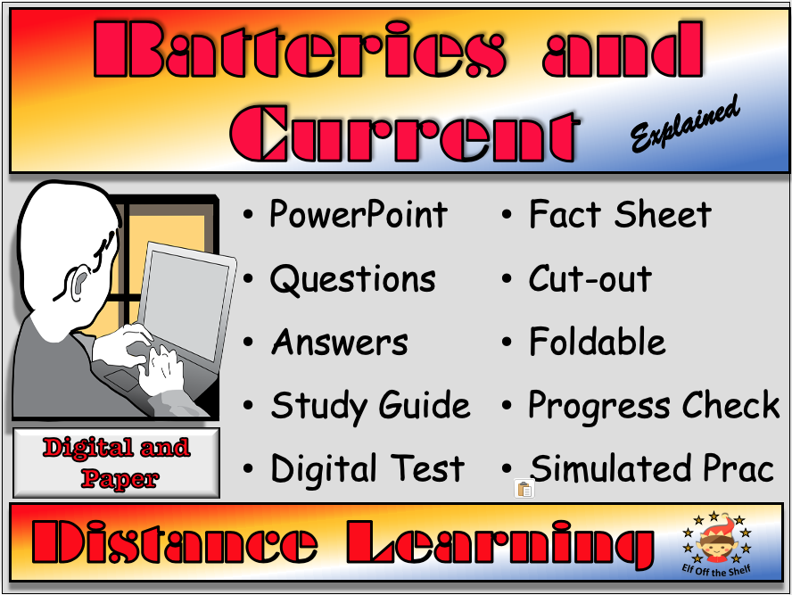 Current Electricity - Batteries and Current Explained - Distance Learning or Home Learning for KS3